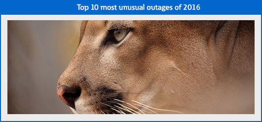 Top 10 most unusual outages of 2016